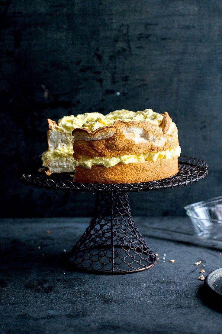 Lemon Angel Food Cake With Preserved Lemon Curd Recipe - NYT Cooking