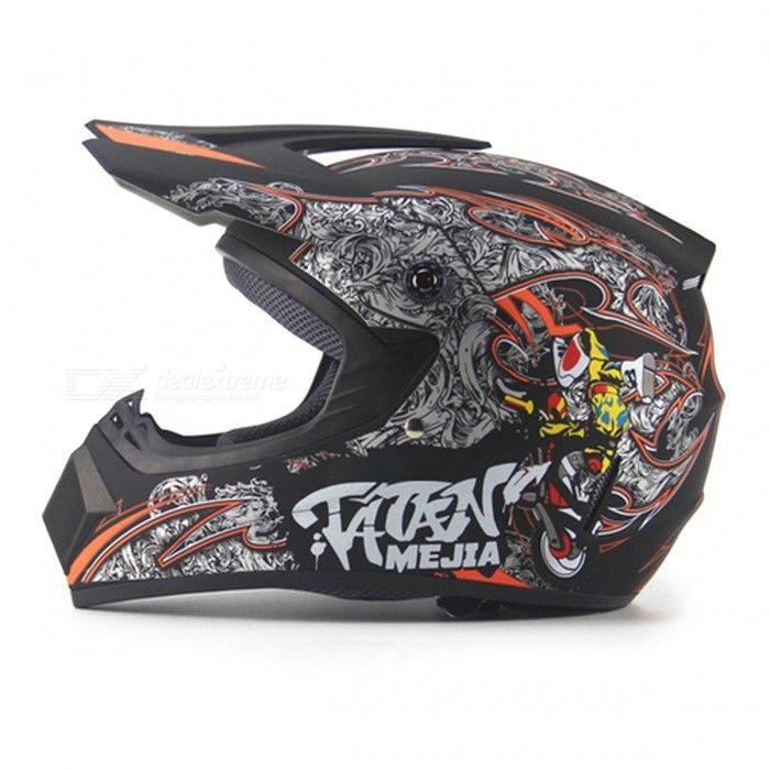 Capacete Motocicleta Motocross Off-Road para adultos - Preto fosco (M)
