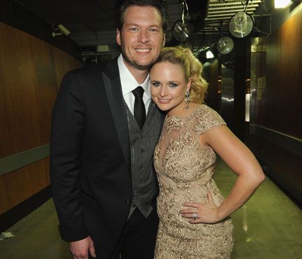 """""""I think Blake is a bit scared of me. He says he's not, but I've said, 'If you cheat, I'll spray-paint all of your trophy deer heads pink."""" -Miranda Lambert"""