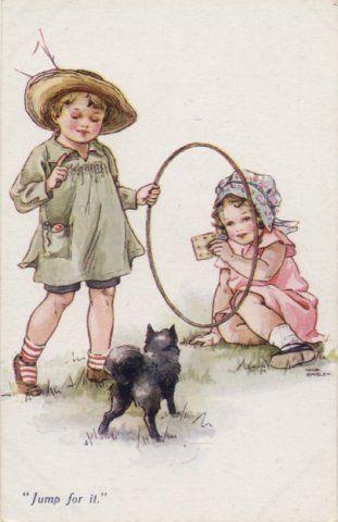 Vintage postcard - Illustration by Nina Kennard Brisley (1898-1978)