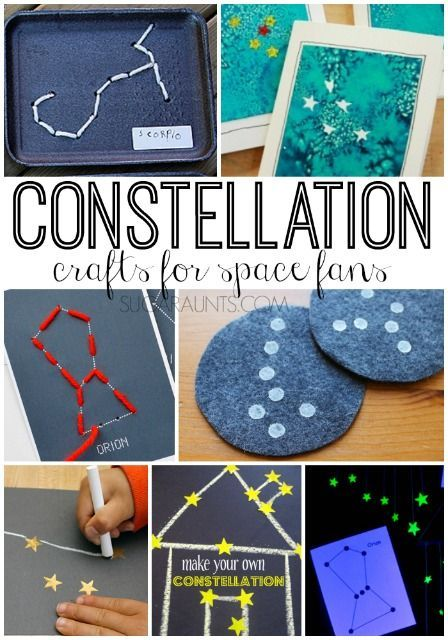 Constellation crafts for kids via Sugar Aunts