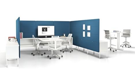 Public office landscape by fuseproject for herman miller for Office design herman miller