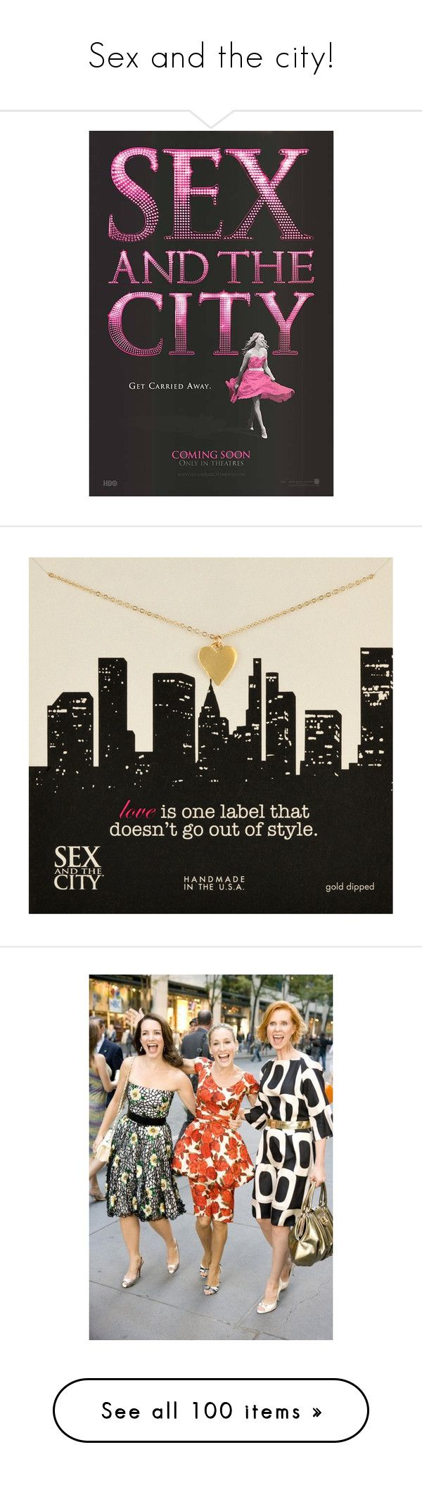 """""""Sex and the city!"""" by martamu ❤ liked on Polyvore featuring text, words, quotes, backgrounds, phrases, saying, home, home decor, wall art and jewelry"""