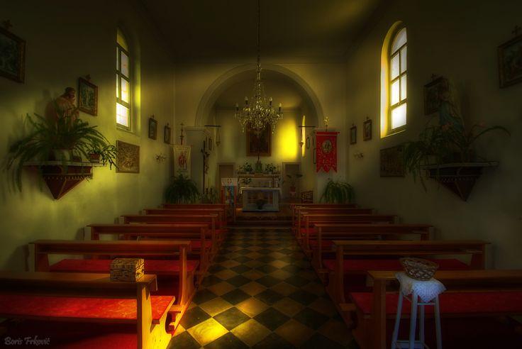 Small church in village Ustrine on island Cherso