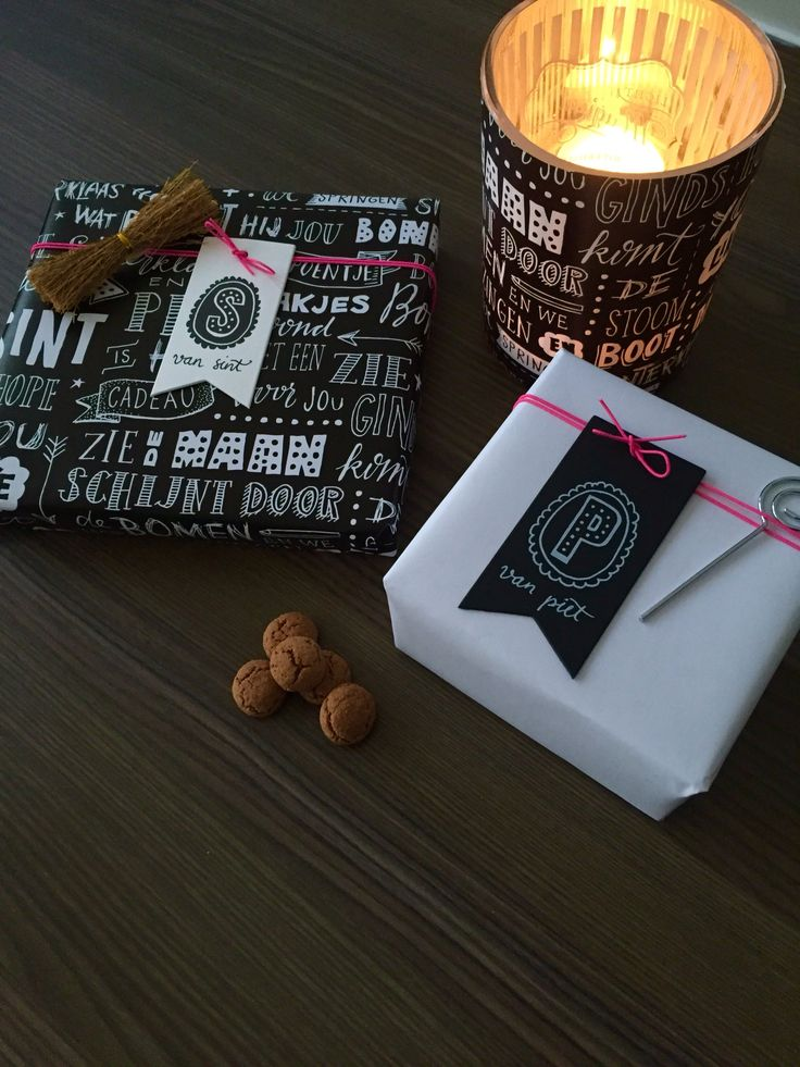 Cadeaupapier en labels van Paperfuel... Restje papier over? Maak er een theelichtje van!