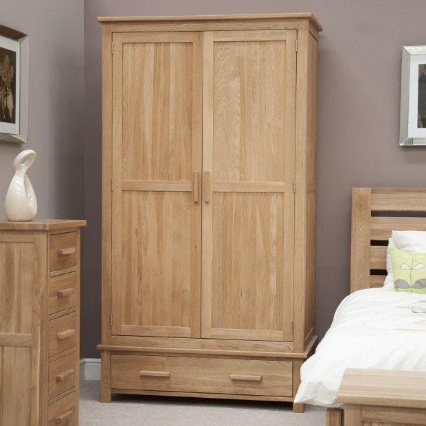 Opus Solid Oak 2 Door Gents Double Wardrobe at Oak Furniture UK  We have a  wide range of solid wood furniture in stock so buy online today. Best 25  Solid oak furniture ideas on Pinterest   Oak furniture