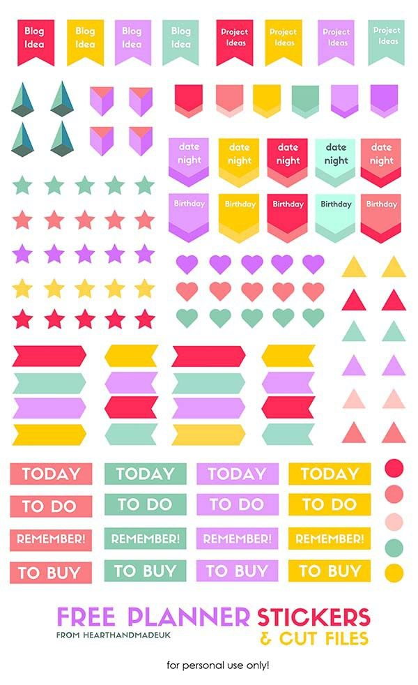 Free Planner Stickers Download - - Click through to see 13 Fabulous and Totally Free Planner Printables