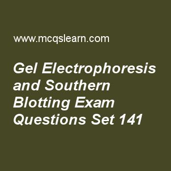 Practice test on gel electrophoresis and southern blotting, MCAT quiz 141 online. Practice gel electrophoresis and southern blotting test with answers. Practice online quiz to test knowledge on, gel electrophoresis and southern blotting, replication and multiple origins in eukaryotes, gluconeogenesis, pyrimidine and purine residues, regulation of metabolic pathways worksheets. Free gel electrophoresis and southern blotting test has multiple choice questions as species are positively…