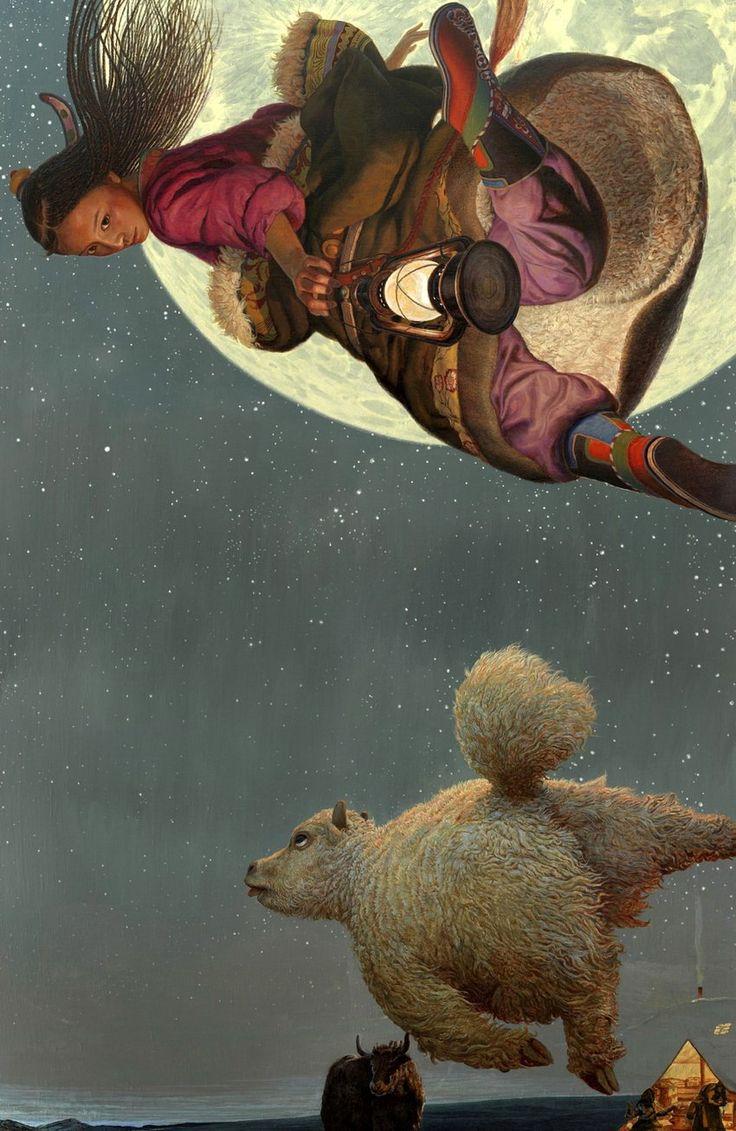 Китайский художник Wang Yi Guang — летающий дух Тибета