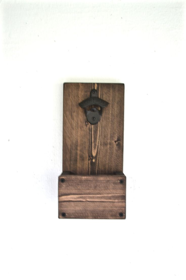 a wood bottle opener and cap catcher it 39 s made from solid wood and stained a dark roast color. Black Bedroom Furniture Sets. Home Design Ideas