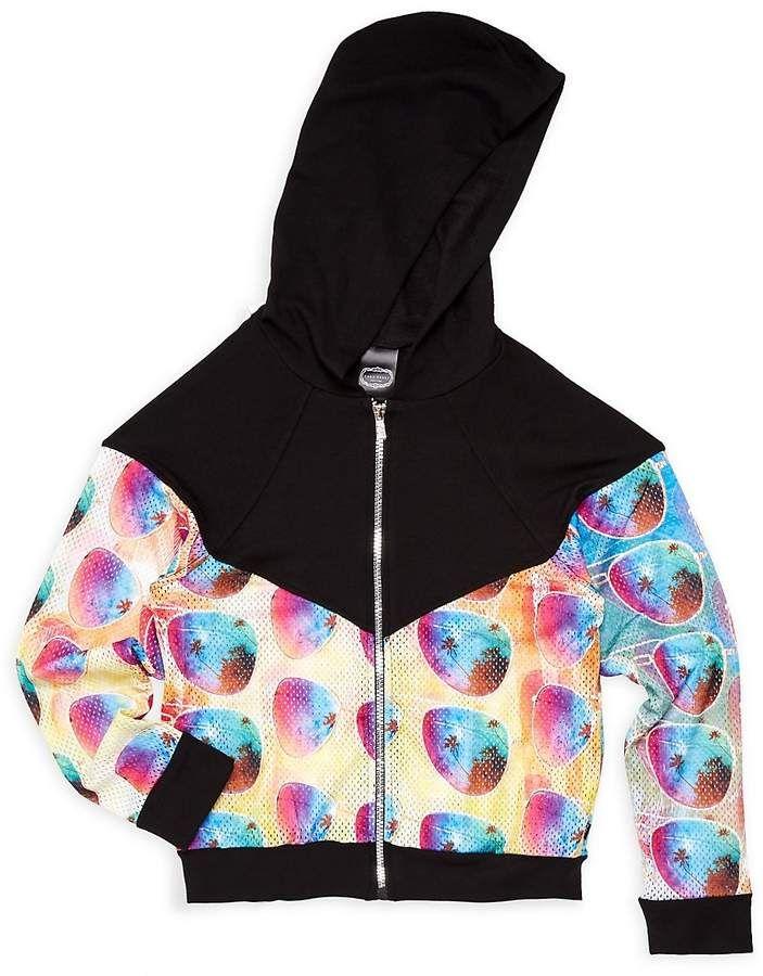 461a90f6 Girl's Printed Zip-Front Hoodie #sleeves#banded#Raglan ...