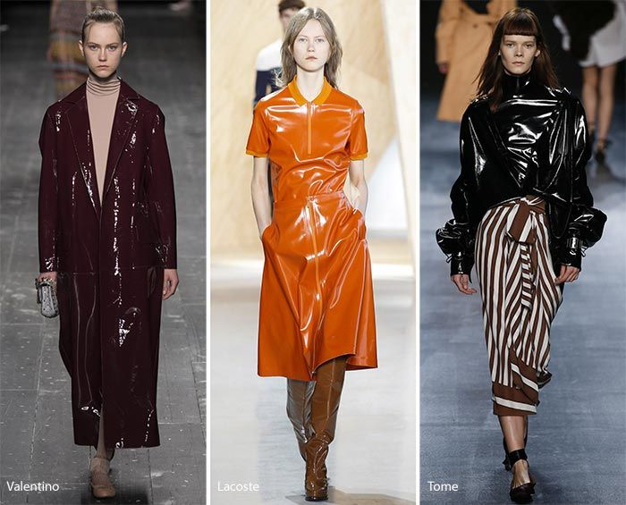 Fall/ Winter 2016-2017 Fashion Trends: Patent Leather/ Vinyl Trends 2017 | For more inspirations visit and follow: www.delightfull.eu