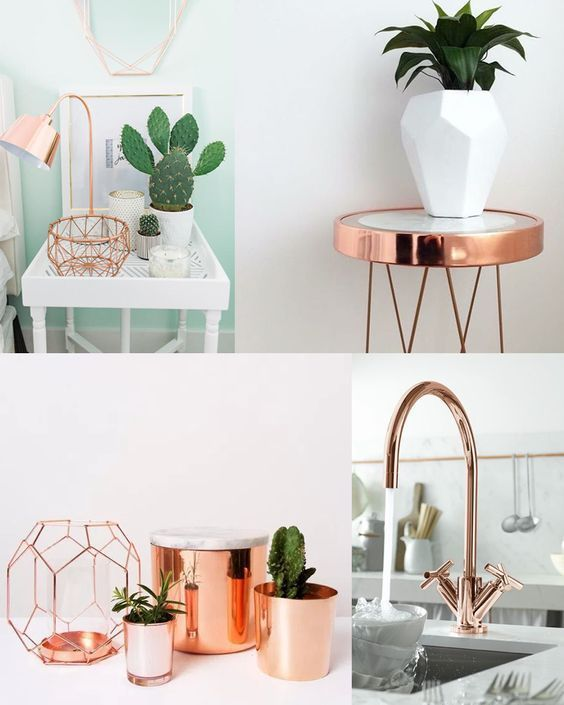 15+1 cool rose gold home decor accessories | Lofts…