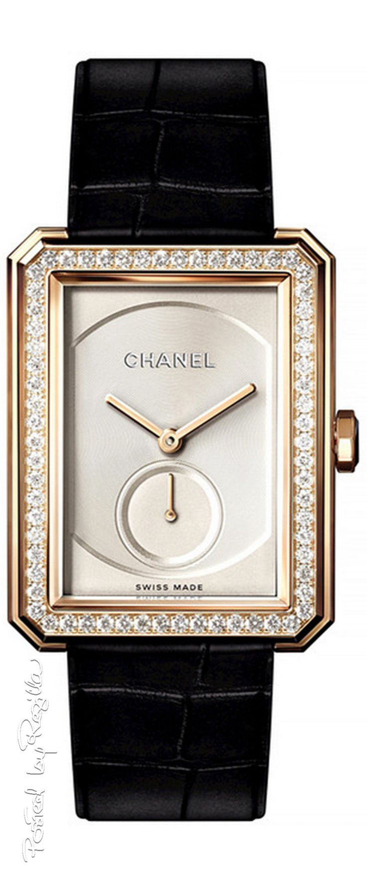 Regilla ⚜ Chanel.  Via @innochka2. #Chanel #watches