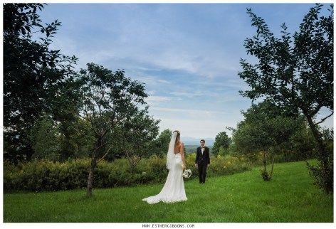 Photographie des mariés au  Domaine Tomali-Maniatyn, Quebec