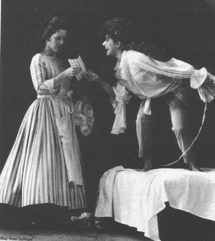 "Barbara Bonney as Susanna and Cecilia Bartoli as Cherubino in ""Le Nozze di Figaro"" by Wolfgang Amadeus Mozart"