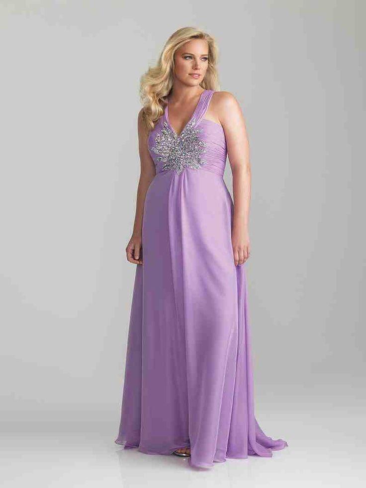 Plus Size Lavender Bridesmaid Dresses