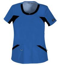 Dickies 82705 Women's Performance System Scrub Top in Royal Blue