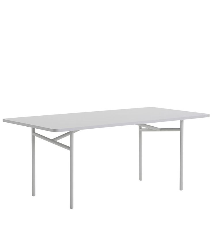 Diagonal dining table, grey