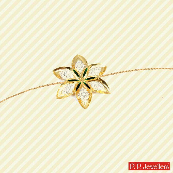 Floral Gold Rakhi