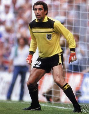 England's Goalkeeper Yellow Uniform 1981 to 1983