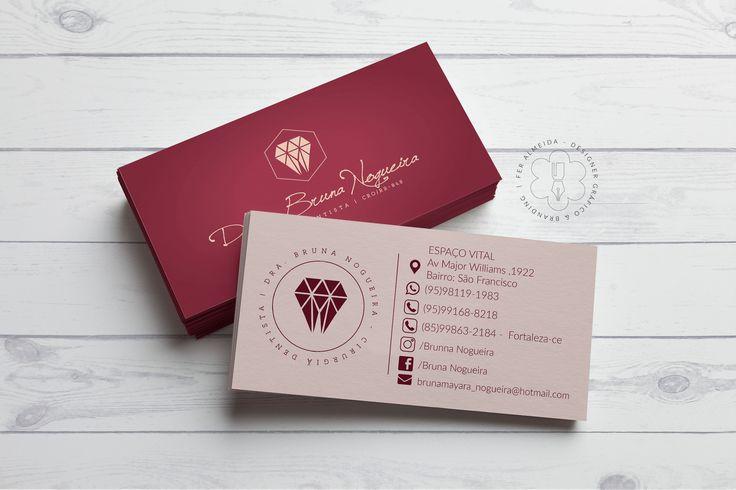 Cartão de Visita Bruna Nogueira Cirurgiã Dentista