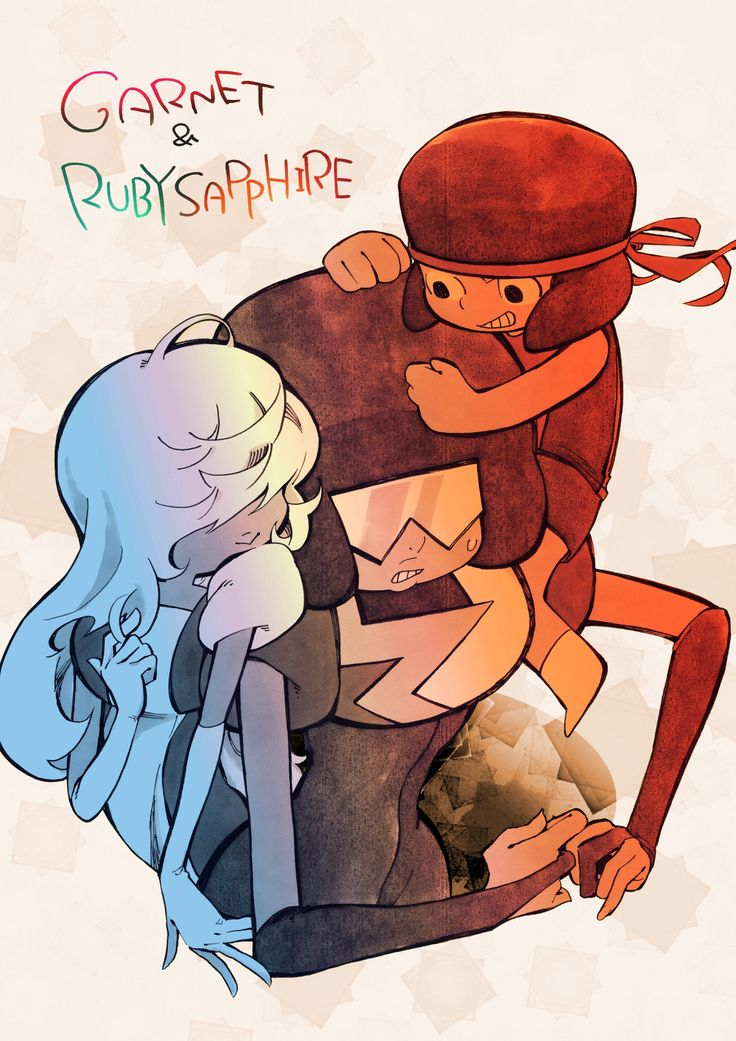 Steven universe. Saphire and ruby. Garnet. I love this