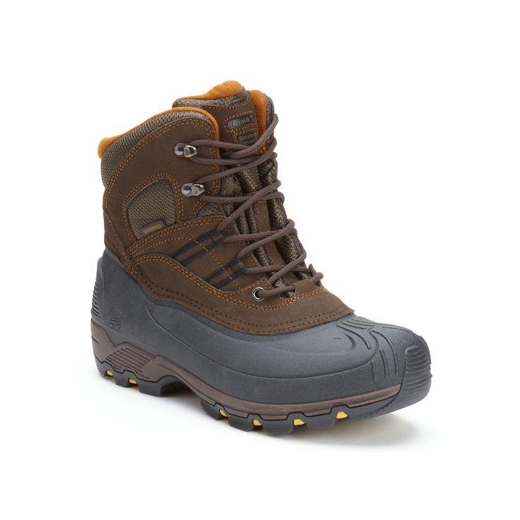 Kamik Warrior Men's Waterproof Winter Boots, Size: 11, Dark Brown