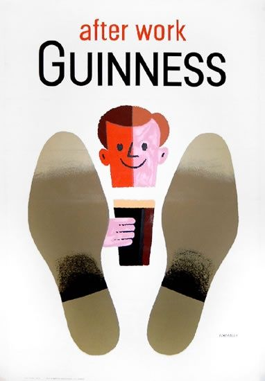 Guinness poster by Tom Eckersley