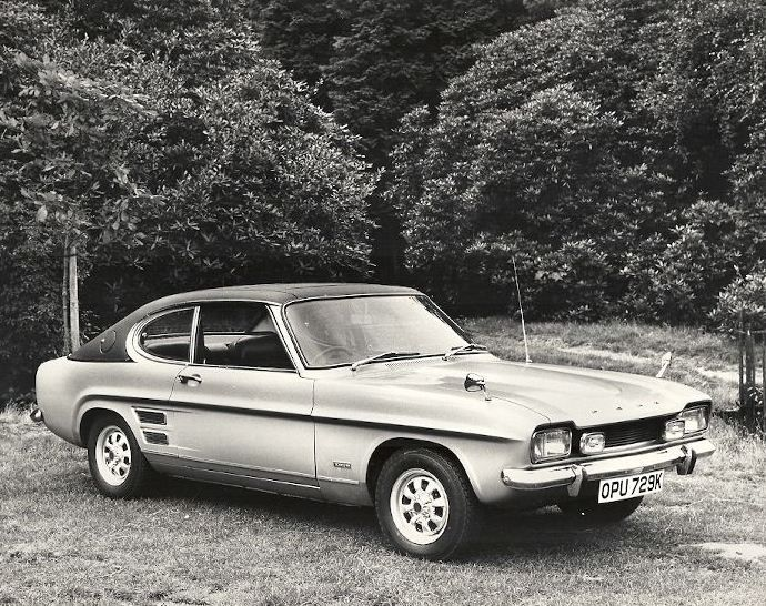 1971 Ford Capri 3000E. Yes, the E stood for Executive, as previously seen on the Cortina, Corsair and Zodiac.