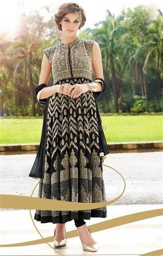 Keep Yourself Away From Old Bring Clother This Wedding Season And Try Out Our New Long Designer #Anarkali #Salwar #Kameez #Frock_Suit. Set Your #Fashion Standard Way Up Than Others With This Short Sleeve Anarkali Suit. Moghal Style Needlework Of This #Long_Frock Is Strong Enough To Separate You From The Crowd. #Anarkali_frocks_designs #suits_new_style of #long_designer_salwar_kameez