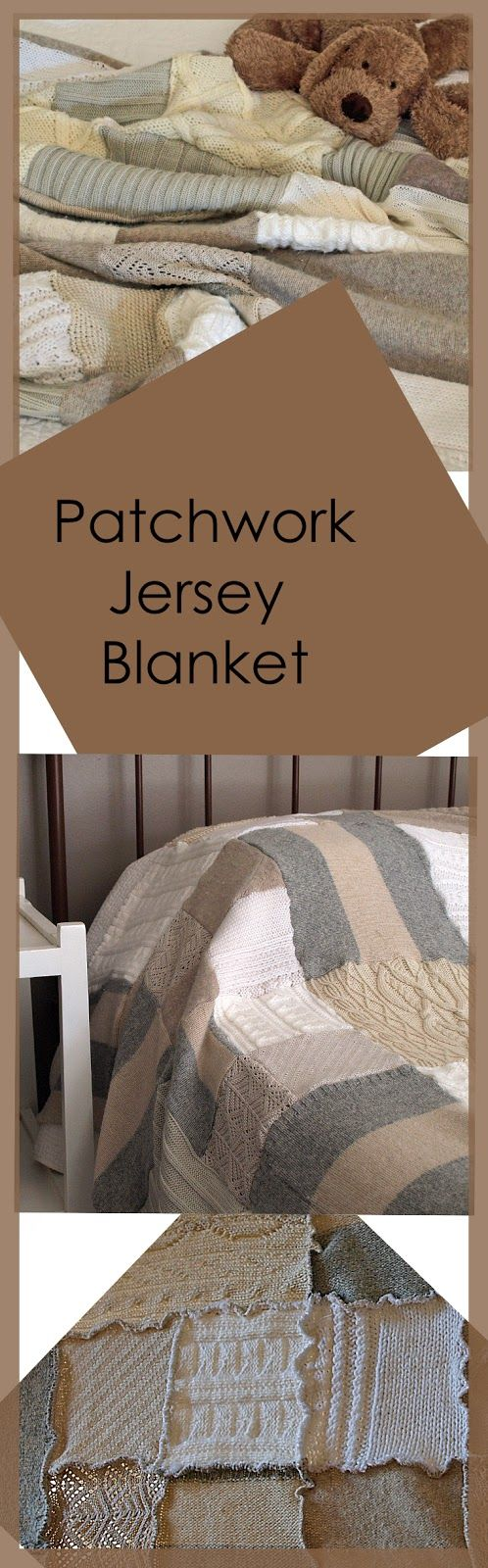 The blanket is made from many vintage jerseys collected over a few months.