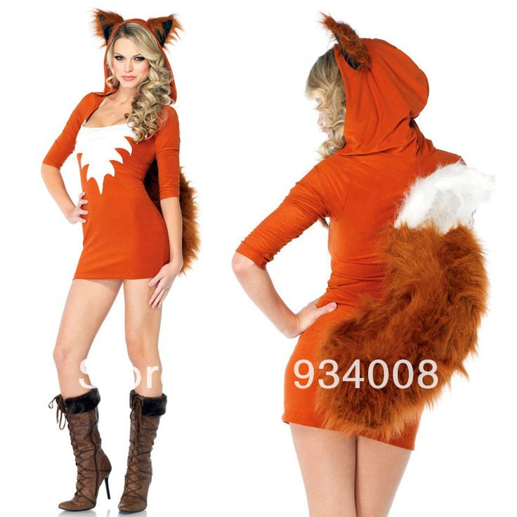 Red fox costume animal adult, Red fox animal costumes for adults, sexy animal fox costumes $26.65