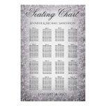 Wedding Seating Chart Silver Glitter #weddinginspiration #wedding #weddinginvitions #weddingideas #bride