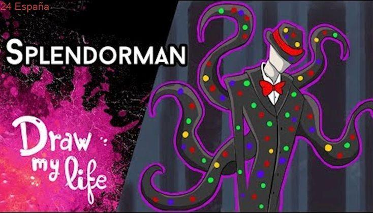 SPLENDORMAN: El HERMANO de SLENDERMAN - Draw My Life en Español