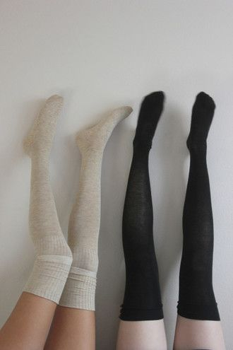 shoes socks hipster indie sock high long comfy tumblr soft grunge high socks knee high socks over the knee