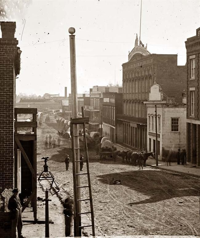 Atlanta in the Civil War before Gen. Sherman burned the city to the ground. **