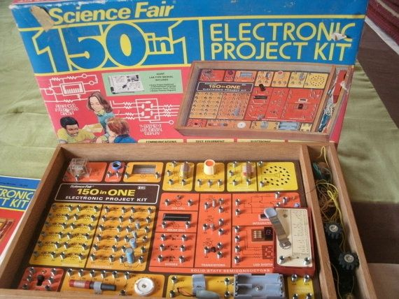 Electronic Project Kit 1970's by NeverTooOld on Etsy, $50.00