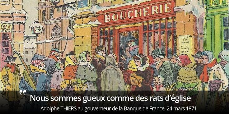 Comment Thiers finance-t-il la rançon fixée par les Allemands pour libérer le territoire ? #histoire de #France en #citations