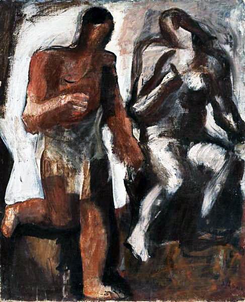 Mario Sironi - Due figure, 1928