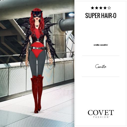 Covet Fashion Daily: Super Hair-O ✨4.26 (4.04 from votes). Could have made 5 ⭐️ with max points on season & unworn items plus extra votes from wearing latest clothing/jewellery.