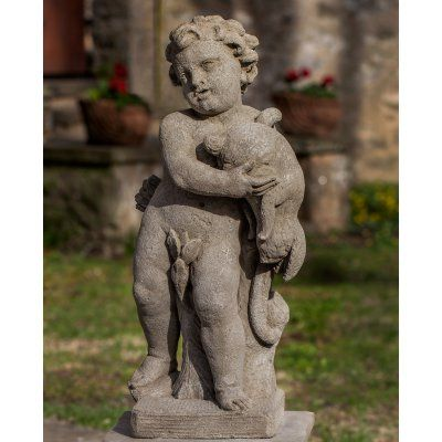 Campania International Classical Archer Cast Stone Garden Statue - S-486-VE