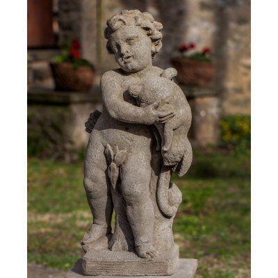 Campania International Classical Archer Cast Stone Garden Statue - S-486-VE