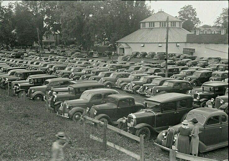 1938 Lancaster, Ohio  racetrack parking lot