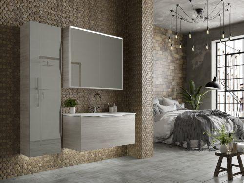 Grey en suite bathroom furniture from Utopia Bathrooms.