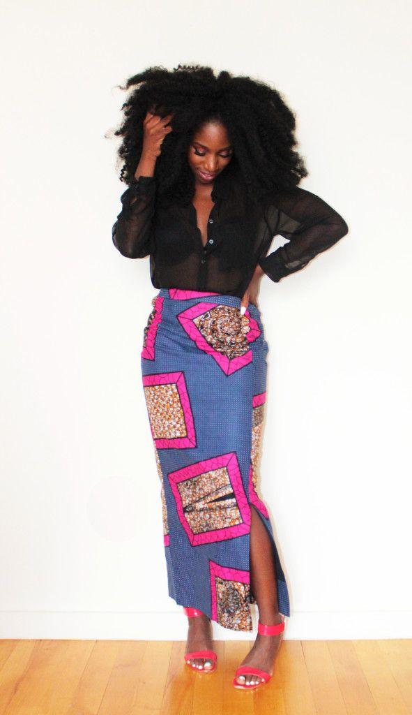Angel Side Split Pencil Skirt ~African fashion, Ankara, kitenge, African women dresses, African prints, Braids, Nigerian wedding, Ghanaian fashion, African wedding ~DKK