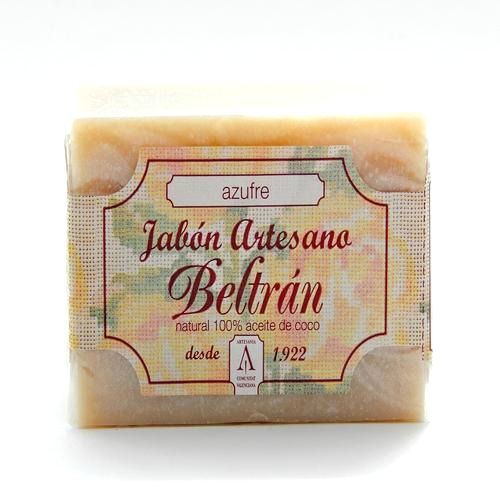 Jabón de Azufre - Jabones Beltrán - 100gr, 2,50€ en Viva Nutrición - Desinfectante y purificante para pieles grasas y con acné.