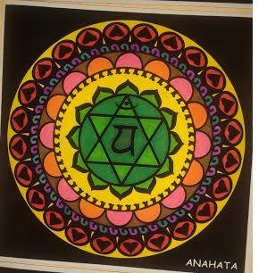 Mandala 4º chakra. Significado: Es el chakra del amor, de la compasión y del perdón. Se debe recordar que, en la tradición del yoga, el amor y la escucha son muy importantes, espiritualmente hablando, tienen el mismo valor.