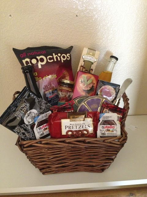 Honeymoon Gift Basket or Wedding Night Midnight Snack for Bride and Groom