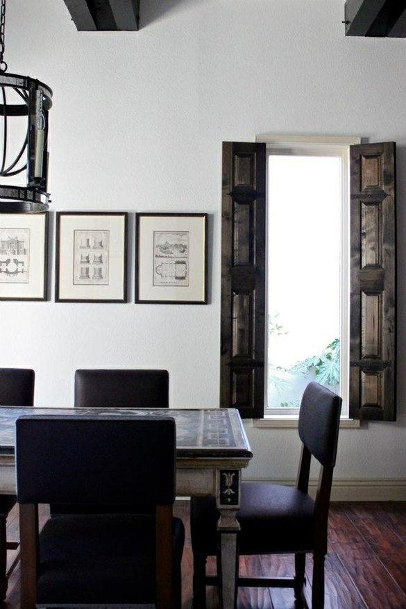 Custom made Interior Shutters by Farmhouse Table Company